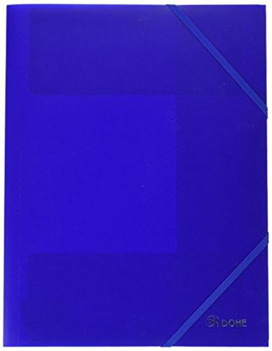 Dohe 90600 - Carpeta Polipropileno, goma plana, color azul