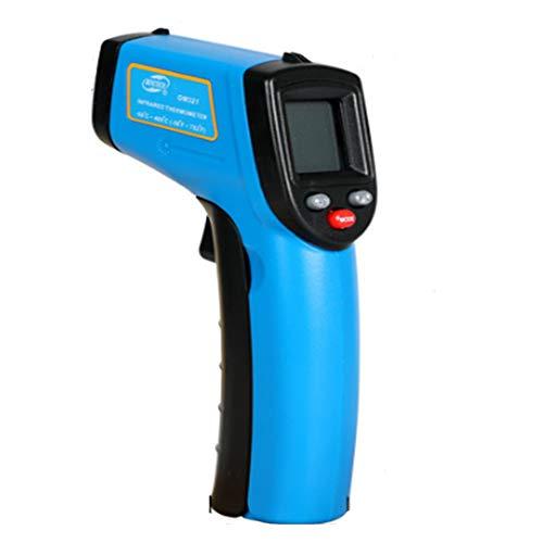 JUNJP Digitales Laser-Infrarot-Thermometer, berührungslose Temperaturmesspistole, Geeignet für die Haushaltspflege in der Küchengarage Gewerbliche Heizung, Rot/Blau