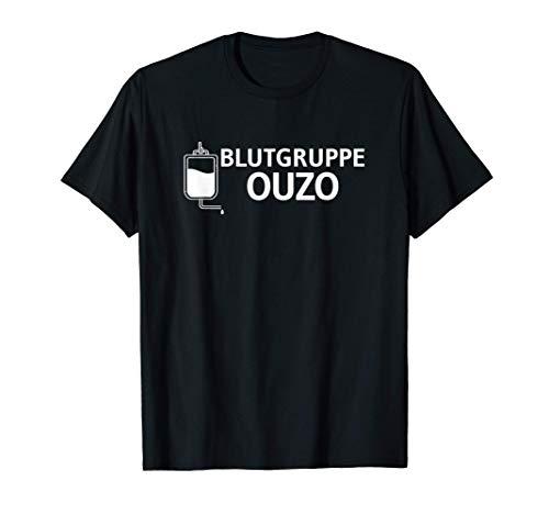 Eh Alk JGA Griechenland Griechischer Schnaps Blutgruppe Ouzo T-Shirt