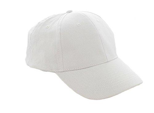 morefaz Unisex Jungen Mädchen Mütze Baseball Cap Hut Kinder Kappe TM (Weiß)