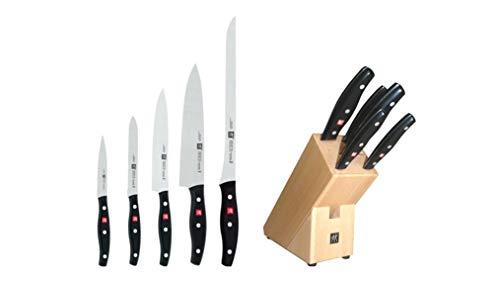 Zwilling TWIN POLLUX - Bloque para 5 cuchillos con hoja endurecida al frío Friodur, acero inoxidable