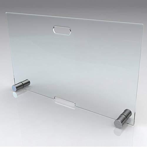 bijon® Design Funkenschutz aus Spezial-Sicherheitsglas HxB 600x800mm | Kamin Ofen Glas Funkenschutzgitter