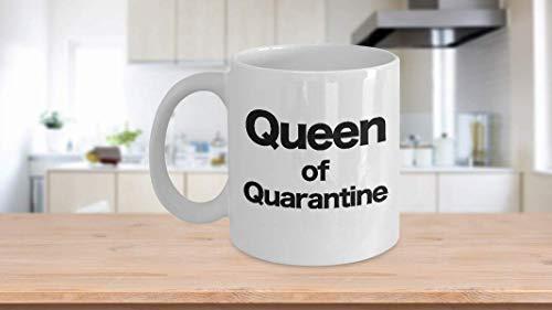 NEW Quarantine Queen Mug Coffee Cup Funny Gift for Mom Wife Sister Social Distancing Coffee Mug