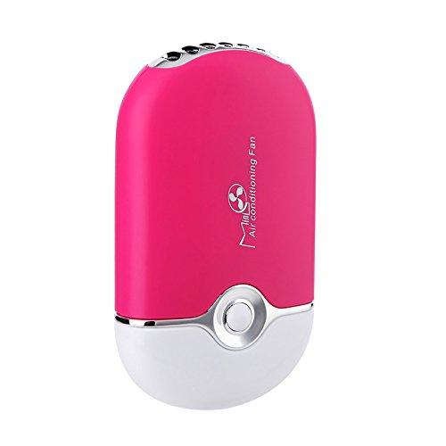 ThreeH Ventilador USB Silencioso Mini Viaje Recargable Ventilador de Aire Humidificador Ventilador de Refrigeración F015,Pink