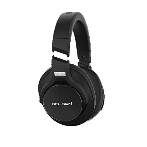 Auriculares Inalámbricos con Cancelación Activa de Ruido ANC Bluetooth 5.0 BSA-75ANC Color Negro | Chip CSR, Micrófono HD con CVC8.0 | De 30 a 40 Horas de reproducción y Carga en 2 Horas.