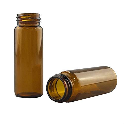 Tansoole 茶色 30ml サンプルボトル 27.5×72.5mm 試薬瓶 24-400ねじ口 実験用品 ガラス 容器 瓶 ラボ液体サンプリング 100個入