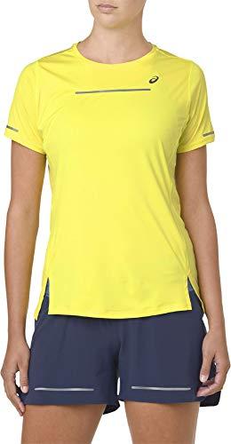 ASICS Damen Lite-Show T-Shirt-Neongelb, Silber, M