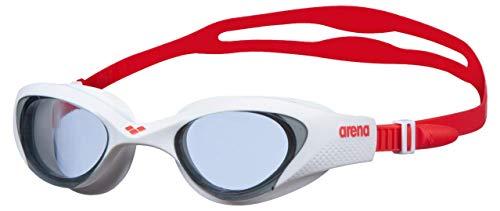 ARENA Unisex Schwimmbrille The One, light smoke-white-red, einheitsgröße