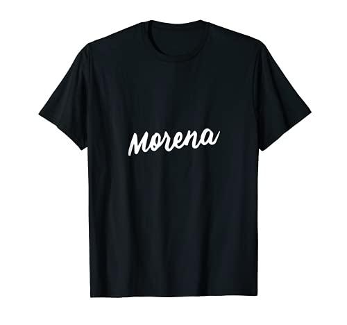 Morena Fiesta de Bodas Divertido Regalo Latina Española Mexicana Hipster Camiseta