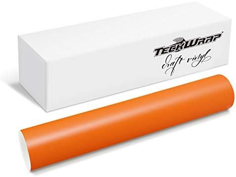 TECKWRAP Permanent Adhesive Vinyl 12 x 10ft Matte Orange product image