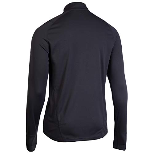 Eastern Mountain Sports Men's Techwick Medium Weight 1/4-Zip Synthetic Base Layer Top Forged Iron M