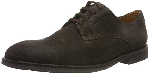Clarks Herren Ronnie Walk Derbys, Braun Dark Brown Nub), 44 EU