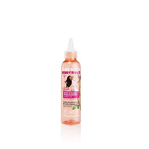 Energie Fruit Bain d'Huile Monoï/Rose/Huile d'Argan Bio pour Cheveux Rebelles/Difficile à Lisser