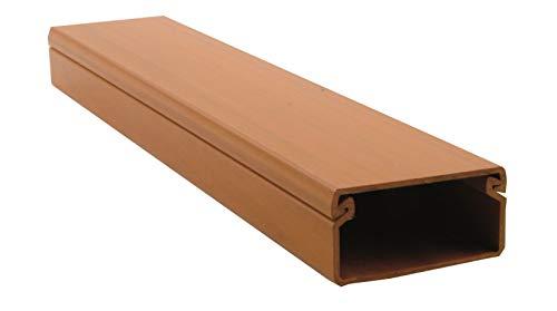 Canaleta de pared para cableado eléctrico imitación madera color roble. Medidas 2000 x 40 x 20 mm