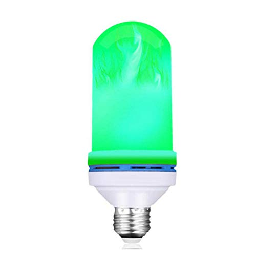 LED Flame Fire Light Bulb AC Flickering Decorative Flame Atmosphere mood Wall Lamp Artificial vivid fire party bar E26 E27 B22-B22_Three_gears_with_gravity_sensor_green_flame