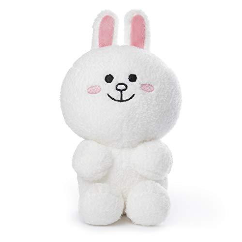 "GUND Line Friends Cony Seated Plush Stuffed Animal Rabbit, White, 7"", Multicolor"