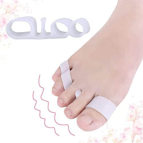 Separador de dedos de silicona, soporte para dedos de tres orificios, para corregir los pies masculinos y femeninos (se venden dos pares)