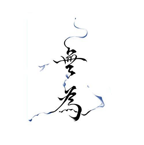6 feuilles de calligraphie chinoise ne rien faire tatouages temporaires autocollants pour Cosplay Fête costumée couvrant les cicatrices