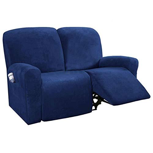 Funda de sofá reclinable de 2 Asientos con Todo Incluido Funda de sofá Antideslizante Funda de sofá Funda de sofá reclinable elástica para Sala de Estar-Funda de sillón reclinable S2