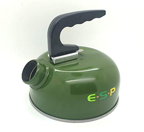 ESP Carp Fishing Green Bivvy Session Lightweight Easy Fill Aluminium Kettle 0.6 litre