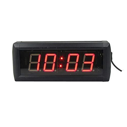 EVFIT Temporizador de Gimnasio Led Digital Gym Timer 1.8' Alto carácter Reloj de Cuenta atrás for los Entrenamientos w/Remoto Interior Solamente (Color : Black, Size : Digital Height 1.8inch)
