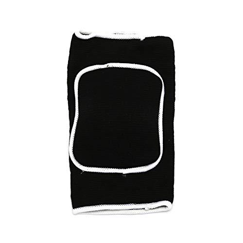 XIAOSHI Rodilleras 1 UNID Deportivo Y Fitness Elbowamp; Almohadillas de Rodilla Punto Grueso Esponja Baloncesto Voleibol de Voleibol Soporte de Crash Pads Soporte de Codo Rodillera (Color : Black)