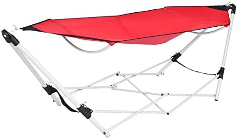Happygrill Foldable Hammock Portable Lounge Camping Bed with Carry Bag for Camping Patio Garden product image