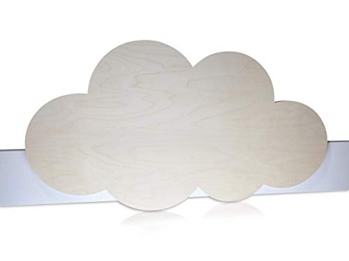 Kinder Bettgitter (Herausfallschutz) aus Holz - Motiv: Wolke - modernes Design, aus Holz - handgefertigt in Deutschland