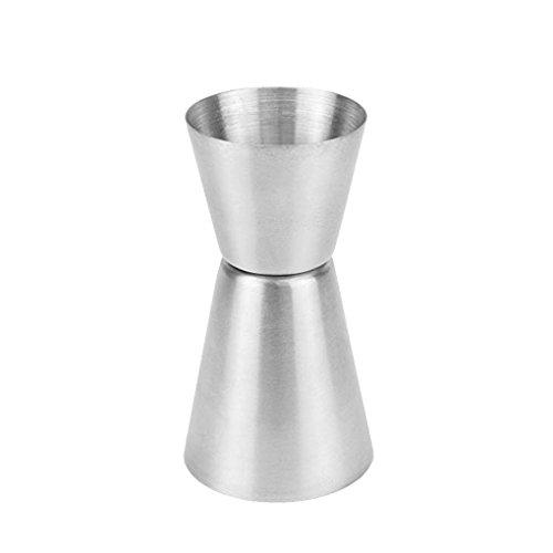 Lorsoul 25/50 ml in Acciaio Inox a Doppia Barra Misure Jigger Wine Party Cocktail Bevanda Spiritosa Misura Cup