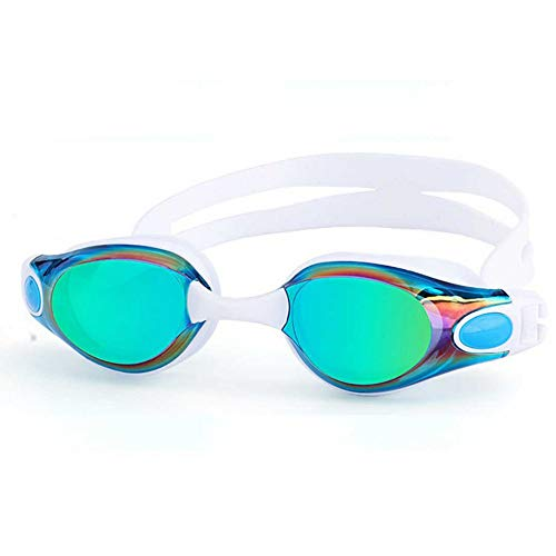 MHP waterdichte en beslagvrije veiligheidsbril voor alle soorten zwembrillen voor dames en heren. wit