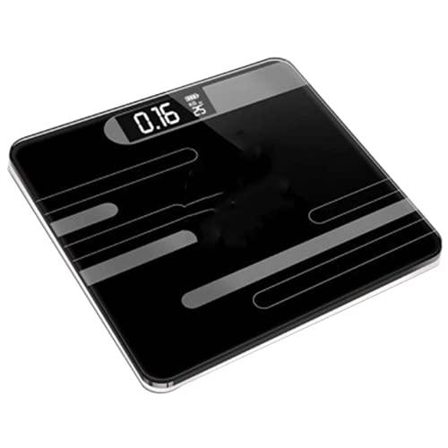 DHTOMC Bilancia da pavimento del bagno, scala in vetro intelligente, scala elettronica USB, display LCD LCD LCD   Bilancia pesapersone con sensori ad alta precisione