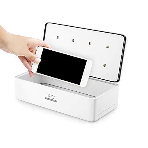 UV-Licht-Sterilisator Sterilisationsbeutel für Gesichtsmasken, Mobiltelefone, Beauty-Instrumente, tötet 99,9% der Keime, Viren und Bakterien mit 8 LEDs 59S S2.
