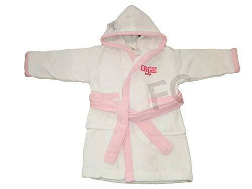 DEMONA Accappatoio Neonato NEONATA Bimbi Baby in Cotone CINIGLIA 12 18 24 Mesi con Tasche Cappuccio IRGE Offerta Vari Colori Bicolore Tinta Unita (CINIGLIA/Bianco Rosa, 24/36 Mesi)