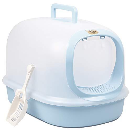 ASJFF Bacino per lettiera per Gatti Completamente Chiusa King Size Toilette per Gatti Pino Singolo Strato Sabbia per Gatti Pentola per Gatti Forniture per Gatti per Bambini-Pink