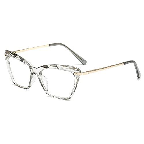 Gafas De Marco De Metal Anti-azules Para Mujeres Gafas De Espejo Plano De Gafas Ópticas Transparentes #2826 (Frame Color : No3)