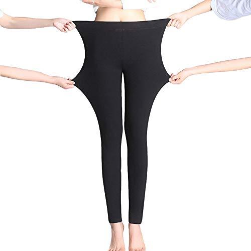 Chiyeee damesleggings winterwarme elastische broek fleece gevoerd thermische stretchy panty voor meisjes dames L-4XL