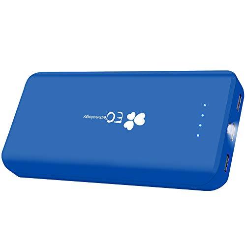EC Technology Powerbank 22400 mAh Externer Akku mit 3 USB,Auto IC Ausgangen hohe Kapazitat Eingang Port Tragbar Power Bank kompatibel mit iPhone iPad Samsung und andere Smartphones Blau