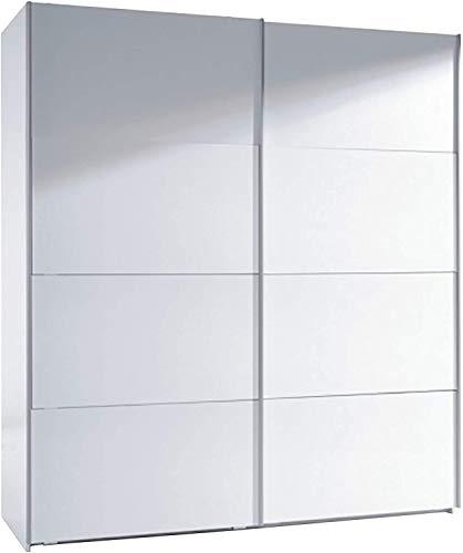 Mobelcenter - Armario Dormitorio Dos Puertas correderas 180 cm - Armario de diseño Sencillo y Elegante - Acabado en Color Blanco Brillo - Medidas: Ancho: 180 cm x Alto: 200 cm x Fondo: 63 cm - (0269)