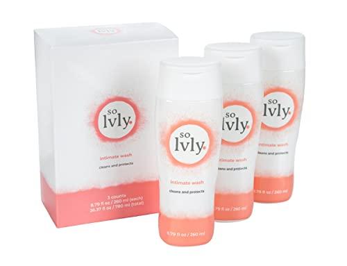 so lvly Body Wash Feminine Wash PH Balanced 8.79 Fl Oz Pack of 3