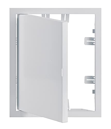 20x25 cm Weiß Revisionsklappe Revisionstür Revision Stahlblech - 200x250 mm