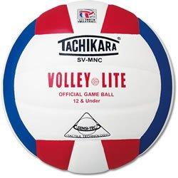 Tachikara Volleyball aus Verbundwerkstoff in Institutions-Qualität, lila-weiß