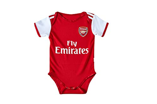 Arsenal Football Club Home Soccer Baby Suit Unisex Multi-Team Optional Suitable(Arsenal,9-18 Monthes)