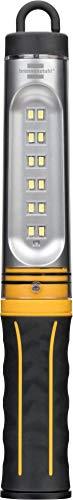 Brennenstuhl LED Akku Werkstattleuchte/Stableuchte 12 SMD-LED (Werkstattlampe mit Schalter, IP54), Gelb