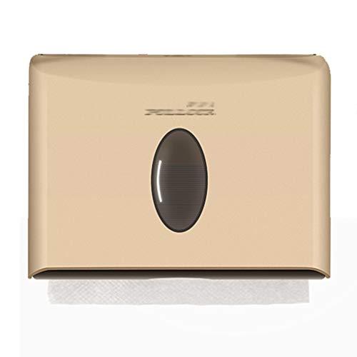 Summerone Papierhandtuchspender, Gewerbe Toilettenpapierspender Wandhalterung Papierhandtuchhalter C-Falten/Multifold Papierhandtuchspender for Badezimmer, Küche (Color : Gold)