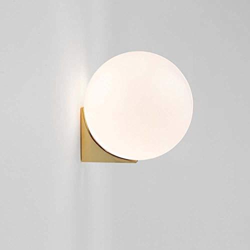 ZXJUAN hoofdverlichting innovatieve hardware volgens Scandinavian moderne glazen woonkamer-wand-lampen slaapkamer nacht kunstenaarse ontwerper model ruimte-wandlamp D15 * H15cm