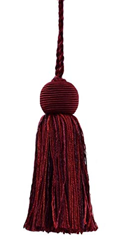 Set of 10 Decorative 10cm Tassel|Maroon, Black Cherry, Chinese Red|Veranda Collection|Style# VTS|Color: Merlot - VNT12