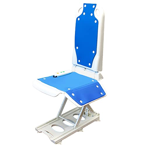 Tranquilo Premium Electric Bath Lift with Padded, SAFESWIVEL Rotating SEAT and Electric Recline. 300lb. Lifting Capacity and Extra High Lifting Range up to 21.5 inches.