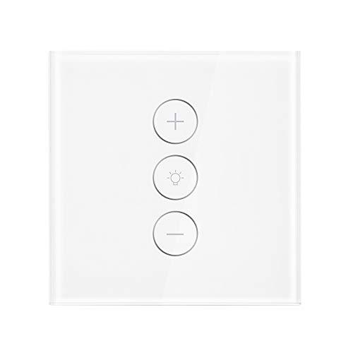 ALLOMN Interruptor de Atenuador Inteligente, Interruptor de luz WiFi Interruptor de Atenuador Continuo El Trabajo con Alexa Google Home, Control Remoto de la Aplicación, Función de Sincronización