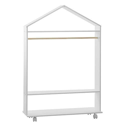 Atmosphera Swaggy - Armario con estantería y ruedas para habitación infantil