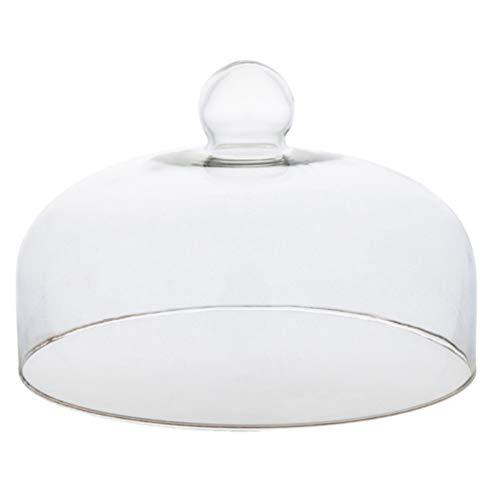 Yardwe Campana para tartas, campana para tartas, campana de cristal, para pastel, campana para tartas, campana de cristal, tapa para alimentos, cubierta para tartas, para el hogar o picnic